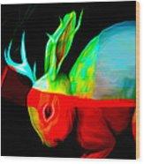 Reality's Jackalope Wood Print