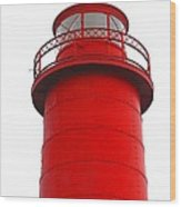 Really Red Lighthouse Wood Print