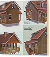 Realm Gallery Cabin Designs Wood Print