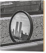 Rear View Mirror  Wood Print