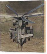 Rear View Of An Israeli Air Force Ch-53 Wood Print