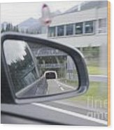 Rearview Mirror Wood Print