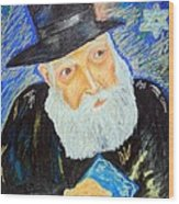 Rebbe's World  Wood Print