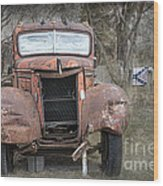Rebel Truck Wood Print