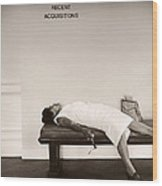 Recent Acquisitions Vintage Documentary Type Photo Woman In Repose Wood Print