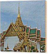 Reception Hall At Grand Palace Of Thailand In Bangkok Wood Print