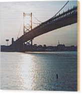 Recesky - Benjamin Franklin Bridge 1 Wood Print