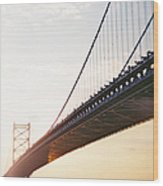Recesky - Benjamin Franklin Bridge 3 Wood Print