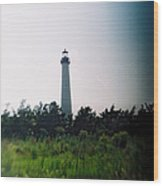 Recesky - Cape May Point Lighthouse 1 Wood Print