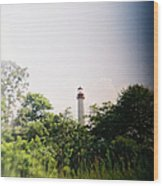Recesky - Cape May Point Lighthouse 2 Wood Print