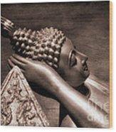 Reclining Buddha Wood Print by Adrian Evans