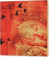Reclining Buddha Wood Print