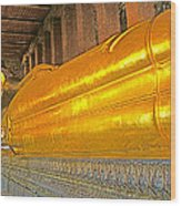 Reclining Buddha In Wat Po In Bangkok-thailand Wood Print