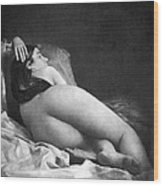 Reclining Nude, C1850 Wood Print