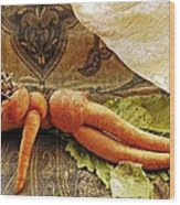 Reclining Nude Carrot Wood Print