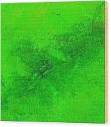 Reclusive Emerald Green Wood Print
