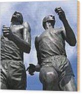 Record Breaking Statues Wood Print