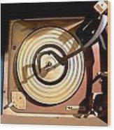 Vinyl Turner Wood Print