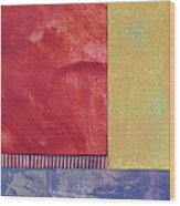 Rectangles - Abstract -art  Wood Print