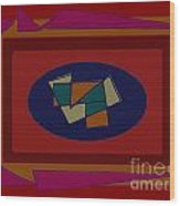 Rectangles Ovals Wood Print by Meenal C