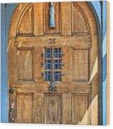 Rectory Door Wood Print