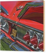Red 1960 Chevy Wood Print