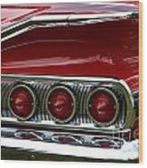 Red 1960 Chevy Tail Light Wood Print