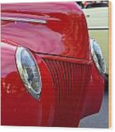 Red 40 Ford Wood Print