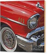Red '57 Wood Print