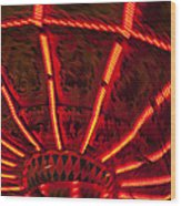 Red Abstract Carnival Lights Wood Print