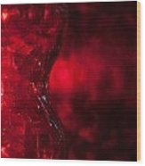 Red Abstract Wood Print