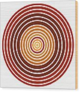 Red Abstract Circle Wood Print by Frank Tschakert
