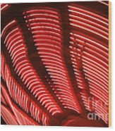 Red Abstract Light 15 Wood Print