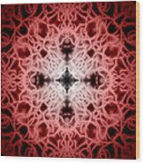 Red Wood Print by Adam Romanowicz