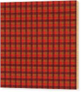 Red And Black Checkered Tablecloth Cloth Background Wood Print