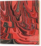 Red And Black Flowing Abstract Wood Print