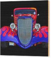 Red And Blue Custom Wood Print