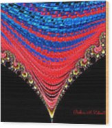 Red And Blue Shawl  Wood Print