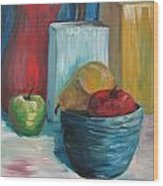 Red And Blue Still Life 2013 Wood Print