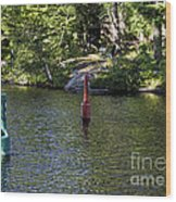 Red And Green Buoys Wood Print