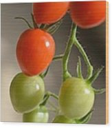 Red And Green Tomatoes Wood Print