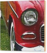 Red And White 50's Chevy Wood Print
