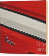 Red And White Ranchero Wood Print