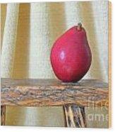 Red Anjou Pear Wood Print