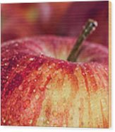 Red Apple Wood Print