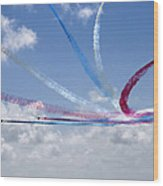 Red Arrows Aerobatic Display Team Wood Print