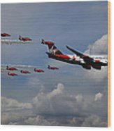 Red Arrows And Lady Penelope Wood Print