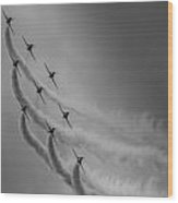 Red Arrows Diamond 9 Wood Print