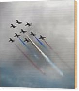 Red Arrows Formation Wood Print