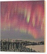 Red Aurora Panorama 1 Feb 12, 2016 Wood Print